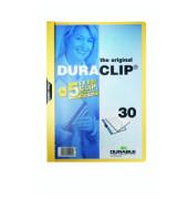 Klemmhefter DURACLIP 30 2200-04, A4, für ca. 30 Blatt, Kunststoff, gelb