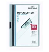 Klemmhefter Duraclip A4 transparenter Vorderdeckel grau für 30 Blatt
