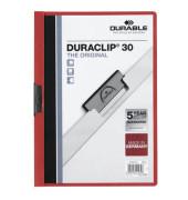 Klemmhefter DURACLIP 30 2200-03, A4, für ca. 30 Blatt, Kunststoff, rot