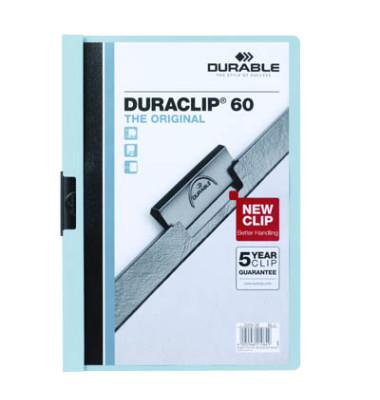 Klemmhefter DURACLIP 60 2209-06, A4, für ca. 60 Blatt, Kunststoff, blau