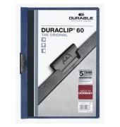 Klemmhefter Duraclip A4 transparenter Vorderdeckel dunkelblau für 60 Blatt