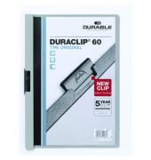 Klemmhefter DURACLIP 60 2209-10, A4, für ca. 60 Blatt, Kunststoff, grau