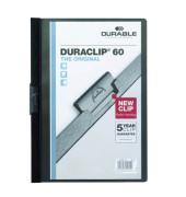 Klemmhefter Duraclip A4 transparenter Vorderdeckel schwarz für 60 Blatt