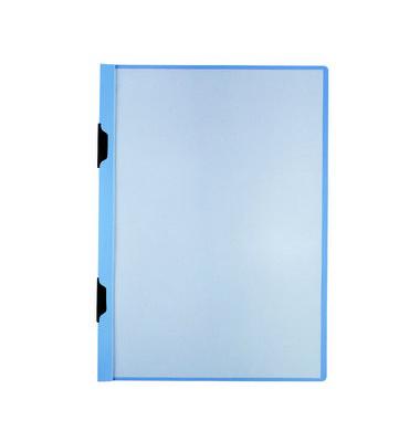 Klemmmappe DuraclipPlus A3 transparenter Vorderdeckel blau für 60 Blatt mit 2 Clips