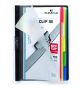Klemmhefter DURACLIP 50 2234-01, A4, für ca. 50 Blatt, Kunststoff, mit 5-teiligem Register, schwarz