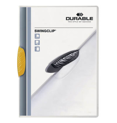 Klemmhefter SwingClip A4 transluzent Clip gelb für 30 Blatt
