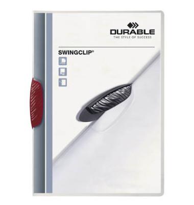 Klemmhefter SwingClip A4 transluzent Clip rot für 30 Blatt