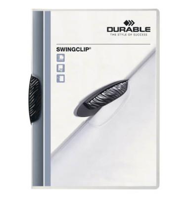 Klemmhefter SwingClip A4 transluzent Clip schwarz für 30 Blatt