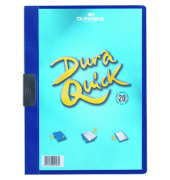 Klemmhefter DURAQUICK 2270-07, A4, für ca. 20 Blatt, Kunststoff, blau