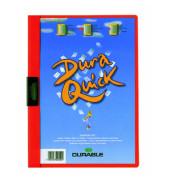 Klemmhefter DURAQUICK 2270-03, A4, für ca. 20 Blatt, Kunststoff, rot