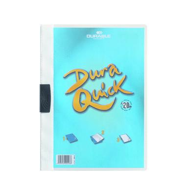 Klemmhefter Duraquick A4 weiß für 20 Blatt