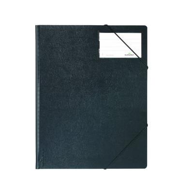Eckspannmappe 2320 A4 PVC schwarz