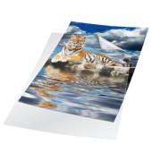 Sichthüllen 2339-19, A4, farblos, transparent, glatt, 0,15mm, oben & rechts offen, PVC-Hartfolie