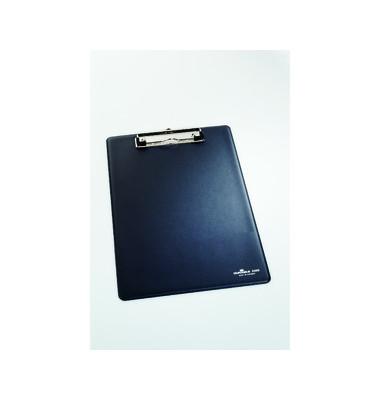 Klemmbrett A4 mit Aufhängeöse dunkelblau Weichfolie