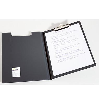 Klemmbrettmappe 2357-01 A4 schwarz 235x330mm Kunststoff