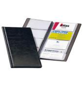 2380 Visifix Visitenkartenalbumschwarz für 96 Karten schwarz 253 x115 mm