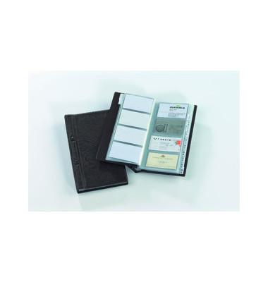 Visitenkartenalbum für 200 Karten braun 255x145mm 12-teilig