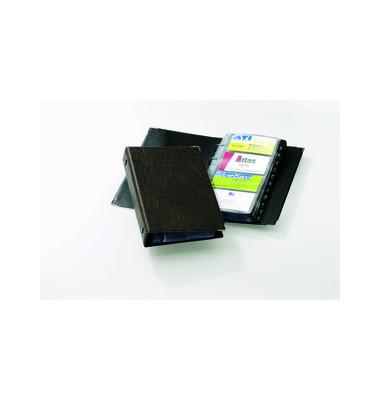 Visitenkartenringbuch VISIFIX braun für 200 Karten 25 Hüllen