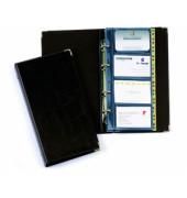 Visitenkartenringbuch VISIFIX schwarz für 200 Karten 25 Hüllen