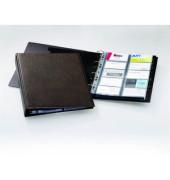 Visitenkartenringbuch VISIFIX A4 braun für 600 Karten 20 Hüllen