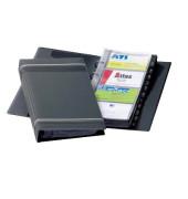 Visitenkartenringbuch VISIFIX anthrazit für 200 Karten 25 Hüllen