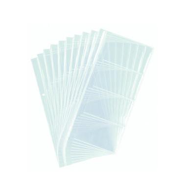 Visitenkartenhüllen transparent für 80 Karten 10 Hüllen