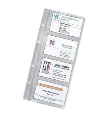 Visitenkartenhüllen transparent für 8 Karten 10 Hüllen