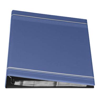 Visitenkartenringbuch A4 dunkelblau 400 Karten 20 Hüllen