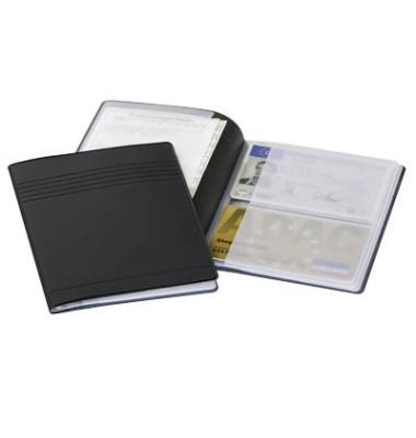 Ausweis-und Kreditkartenhülle anthraz. 80x115mm