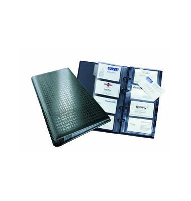 Visitenkartenringbuch VISIFIX Centium schwarz für 200 Karten 25 Hüllen