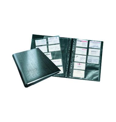 Visitenkartenringbuch VISIFIX Centium A4 schwarz 400 Karten 20 Hüllen
