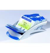 Visitenkarten- Adresskartei Telindex Desk Vegas silber für 200 Karten Kunststoff