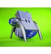 Rollkartei Telindex Flip Vegas silber für 500 Karten Kunststoff