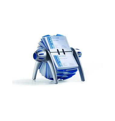 Rollkartei Telindex Flip Vegas silber für 400 Karten Kunststoff