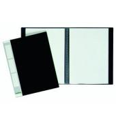 Sichtbuch Duralook A4 mit 20 Hüllen mit Rückenschild schwarz