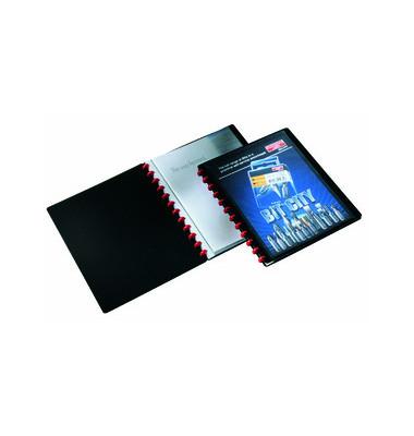 Sichtbuch Duralook Easy Plus schwarz A4 20 Hüllen
