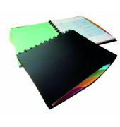 Sichtbuch mit 20 Sichthüllen schwarz mit Register DURALOOK