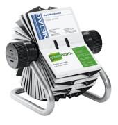 Rollkartei Visifix silbergrau für 400 Karten + erweiterbar bis 560 Karten Metall