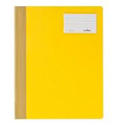 Schnellhefter A4 Hartfolie mit Fenster gelb opaker Vorderdeckel