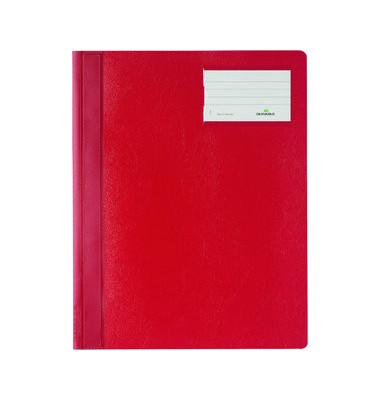 Schnellhefter 2500 A4+ überbreit rot PVC Kunststoff kaufmännische Heftung