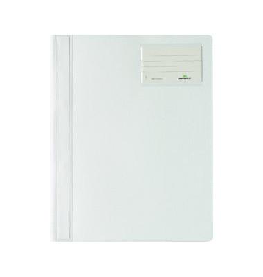 Schnellhefter 2500 A4+ überbreit weiß PVC Kunststoff kaufmännische Heftung