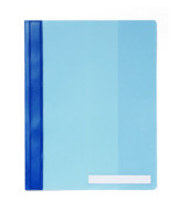 Schnellhefter A4+ Hartfolie blau transparenter Vorderdeckel überbreit