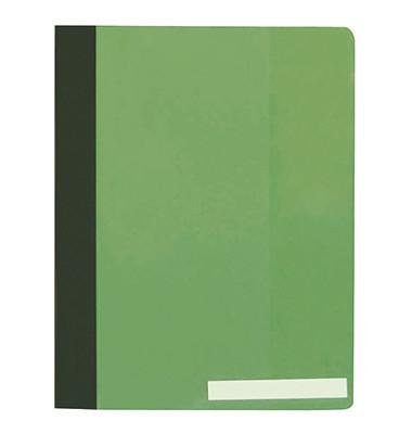 Schnellhefter A4+ Hartfolie grün transparenter Vorderdeckel überbreit