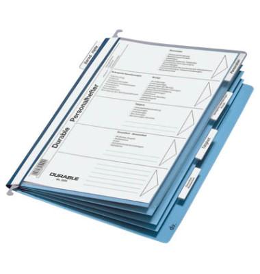 Hängehefter Personal 2554 A4 blau 5-teilig