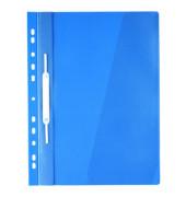 Hängehefter A4 Kunststoff blau mit Tasche kaufmännische Heftung