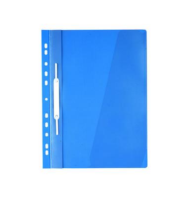 Hängehefter 2560 A4 Kunststoff blau kaufmännische Heftung mit Tasche