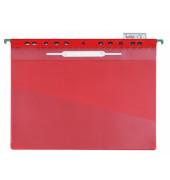 Hängehefter 2560 A4 Kunststoff rot kaufmännische Heftung mit Tasche