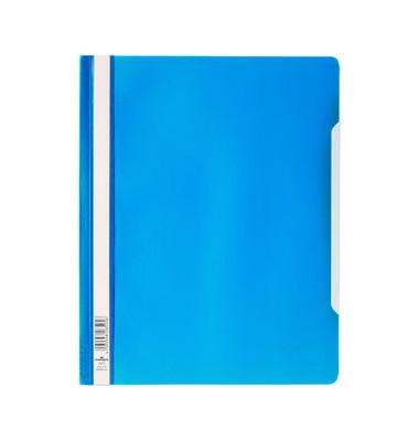 Schnellhefter A4+ blau transparenter Vorderdeckel kaufmännische Heftung