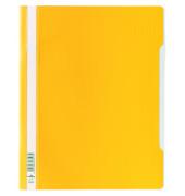 Schnellhefter A4+ gelb transparenter Vorderdeckel kaufmännische Heftung