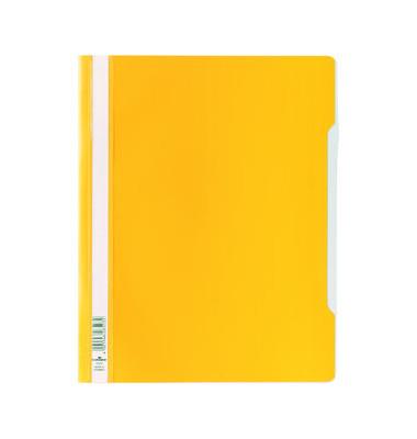 Schnellhefter 2570 A4+ überbreit gelb PVC Kunststoff kaufmännische Heftung